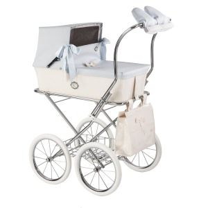 Beige Patent Leather Pram Bag